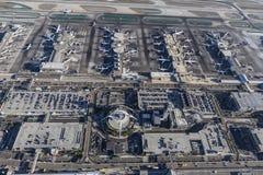 Widok Z Lotu Ptaka terminale przy rozwolnieniem zdjęcia royalty free