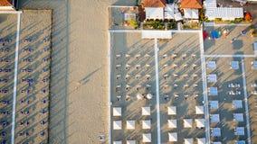 Widok z lotu ptaka Tirrenean intymna plaża Zdjęcia Royalty Free
