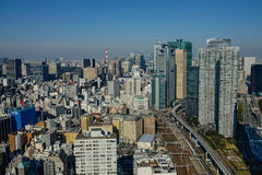 Widok z lotu ptaka Tokio, Japonia Zdjęcia Royalty Free