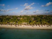 Widok Z Lotu Ptaka: Trou Biches aux plaża Obraz Royalty Free