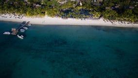 Widok Z Lotu Ptaka: Trou Biches aux plaża Zdjęcia Stock