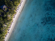 Widok Z Lotu Ptaka: Trou Biches aux plaża Zdjęcia Royalty Free