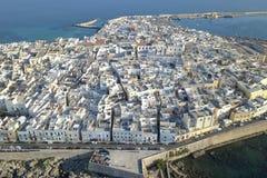 Widok z lotu ptaka z trutniem, gallipoli, Puglia, Włochy obrazy royalty free