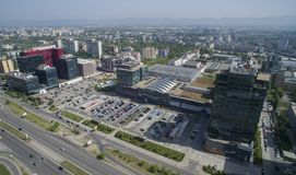 Widok z lotu ptaka Tsarigradsko Chaussee, Sofia, Bułgaria obraz royalty free