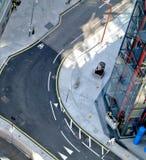 Widok z lotu ptaka ulica w Londyn, Zlany królestwo obraz royalty free