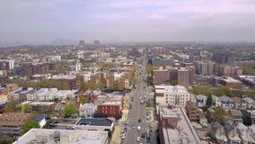 Widok z lotu ptaka ulicy i rozdroża w Brooklyn, Miasto Nowy Jork NYC od above USA zbiory wideo