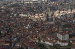 Widok z lotu ptaka ulicy Porto Zdjęcia Stock