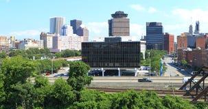 Widok z lotu ptaka ulicy w Rochester, Nowy Jork Obraz Stock