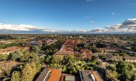 Widok z lotu ptaka uniwersyteta stanforda kampus - Palo Alto, Kalifornia, usa obrazy royalty free