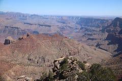 Widok z lotu ptaka uroczystego jaru park narodowy, Arizona, panoramiczny obrazy royalty free