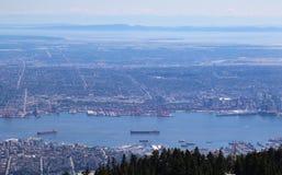 Widok z lotu ptaka Vancouver zdjęcia stock