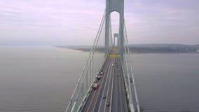 Widok z lotu ptaka Verrazano wiadukt w Brooklyn i bidge, Miasto Nowy Jork NYC od above hudsonu zbiory