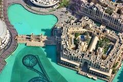 Widok z lotu ptaka W centrum Dubaj Zdjęcie Stock