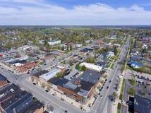 Widok z lotu ptaka w centrum Potsdam, NY, usa zdjęcia stock