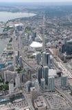 Widok z lotu ptaka w centrum Toronto Fotografia Stock