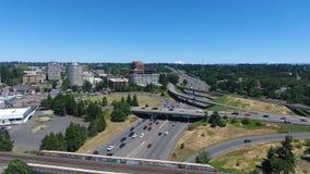 Widok Z Lotu Ptaka W centrum Vancouver Waszyngton zdjęcie stock