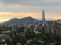 Widok z lotu ptaka w Santiago, chile Obraz Royalty Free