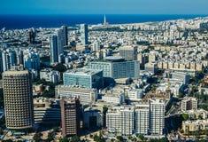 Widok z lotu ptaka w Tel Aviv Zdjęcie Stock