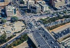 Widok z lotu ptaka w Tel Aviv Obraz Stock