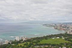 Widok Z Lotu Ptaka Waikiki pejzaż miejski Zdjęcie Stock