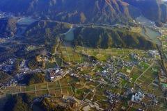 Widok z lotu ptaka Wakayama obrazy royalty free