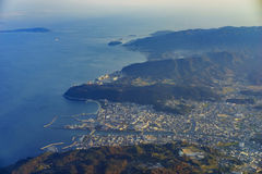 Widok z lotu ptaka Wakayama fotografia royalty free
