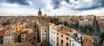 Widok z lotu ptaka Walencja, Hiszpania zdjęcia stock