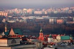 widok z lotu ptaka Warsaw Zdjęcie Royalty Free