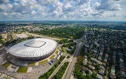 Widok z lotu ptaka Warszawa Obrazy Royalty Free