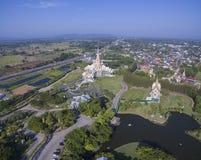 Widok z lotu ptaka wata laung pho Tao korat nakornratchasima północ ea Zdjęcia Royalty Free