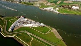 Widok Z Lotu Ptaka waterkering Maeslandt zdjęcie wideo