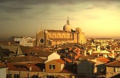 Widok z lotu ptaka Wenecja, z budynkami Giovanni e Paol SS i Obraz Stock