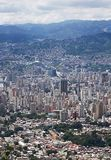 Widok z lotu ptaka Wenezuela stolica Caracas obraz stock