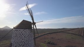 Widok z lotu ptaka wiatraczek zdjęcie wideo