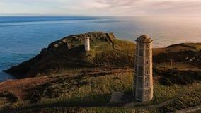 widok z lotu ptaka Wicklow głowy latarnia morska okręg administracyjny Wicklow Irlandia zdjęcia stock