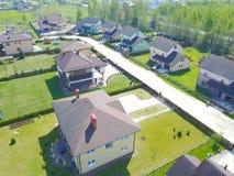 Widok z lotu ptaka wieś, trutnia odgórny widok Obraz Royalty Free