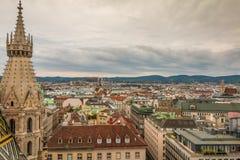 Widok Z Lotu Ptaka Wiedeń Austria obrazy stock