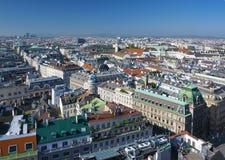 Widok z lotu ptaka Wiedeń centrum miasta od katedry Zdjęcia Stock