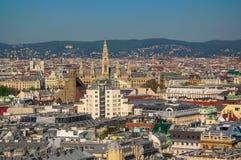 Widok z lotu ptaka Wiede? centrum miasta od katedry zdjęcia royalty free