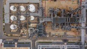 Widok z lotu ptaka wielka rafineria ropy naftowej, rafinerii roślina, rafineria fact Zdjęcia Royalty Free