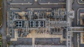 Widok z lotu ptaka wielka rafineria ropy naftowej, rafinerii roślina, rafineria fact Fotografia Royalty Free