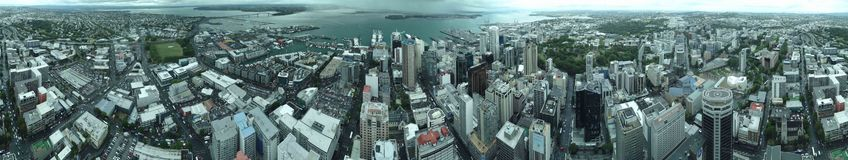 Widok Z Lotu Ptaka Wielki metropolita Auckland fotografia royalty free