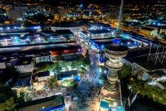 Widok z lotu ptaka wierza OTE i międzynarodowa wystawa Zdjęcie Royalty Free