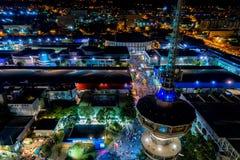 Widok z lotu ptaka wierza OTE i międzynarodowa wystawa Obrazy Stock