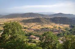Widok z lotu ptaka wioska Zdjęcie Royalty Free