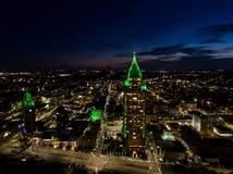 Widok z lotu ptaka wisząca ozdoba, Alabama pejzaż miejski Obraz Royalty Free