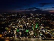 Widok z lotu ptaka wisząca ozdoba, Alabama pejzaż miejski Zdjęcie Stock