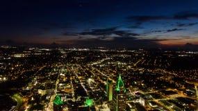 Widok z lotu ptaka wisząca ozdoba, Alabama pejzaż miejski Zdjęcie Royalty Free