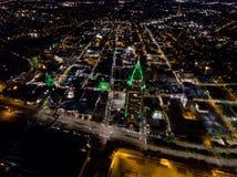 Widok z lotu ptaka wisząca ozdoba, Alabama pejzaż miejski Fotografia Stock