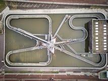 Widok z lotu ptaka woda park obraz stock